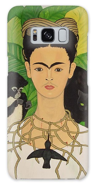 Frida With Monkey And Cat Galaxy Case