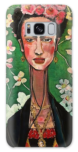 Galaxy Case featuring the painting Frida You Are My Vogue by Laurie Maves ART