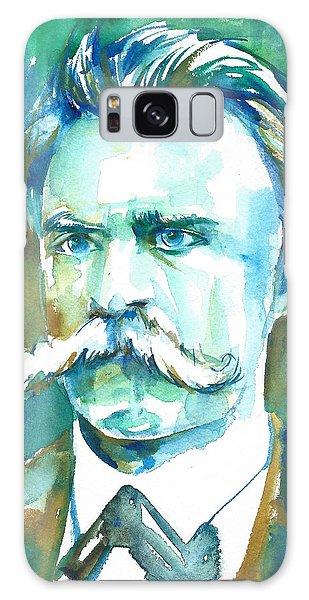 Friedrich Nietzsche Watercolor Portrait.1 Galaxy Case