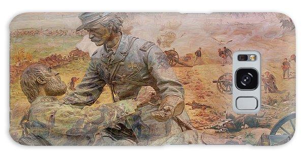 Friend To Friend Monument Gettysburg Battlefield Galaxy Case by Randy Steele
