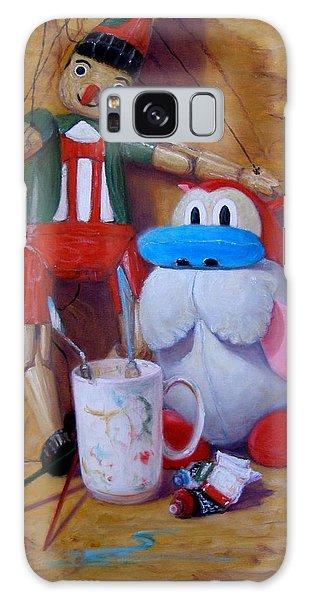 Friends 2  -  Pinocchio And Stimpy   Galaxy Case