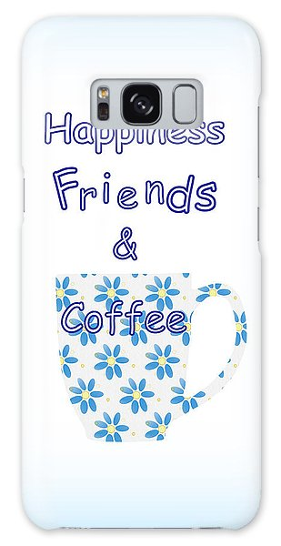Friends And Coffee  - Kitchen Typography Galaxy Case