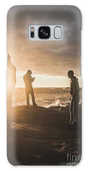 Friends On Sunset Galaxy Case by Jorgo Photography - Wall Art Gallery