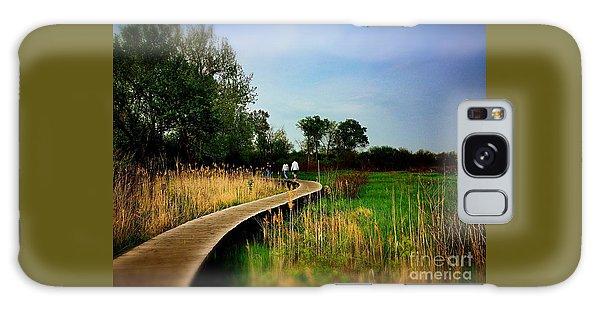 Friends Walking The Wetlands Trail Galaxy Case