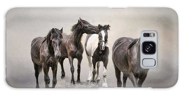 Friesian Horses The Boys And Baby Sister Galaxy Case