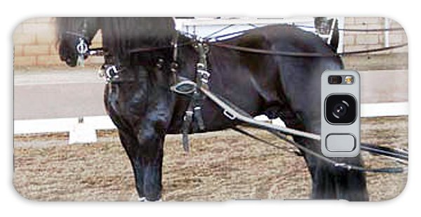 Friesian Stallion Under Harness Galaxy Case