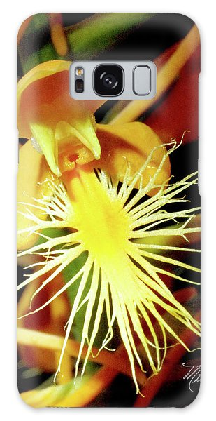 Fringed Yellow Orchid Galaxy Case