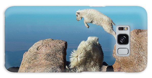 Leaping Baby Mountain Goat Galaxy Case