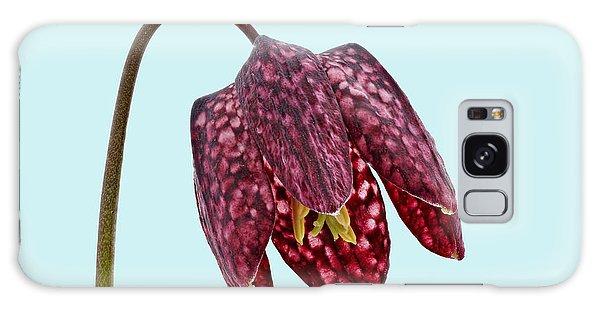 Fritillaria Meleagris - Blue Background Galaxy Case