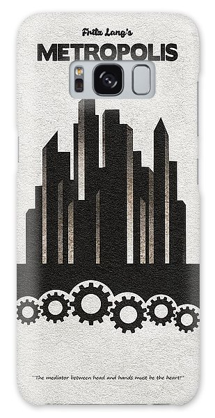 Galaxy Case featuring the painting Fritz Lang's Metropolis Alternative Minimalist Movie Poster by Inspirowl Design