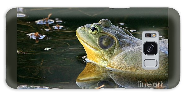 Frog At Sunset Galaxy Case by Paula Guttilla