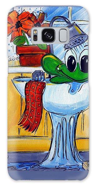 Frog Bath Galaxy Case by Terri Einer