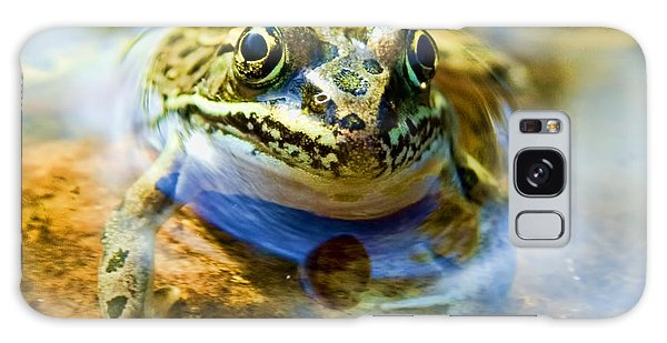 Frog In Pond Galaxy Case