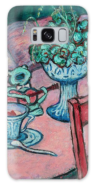 Galaxy Case featuring the painting Frog Singing At Teatime by Xueling Zou