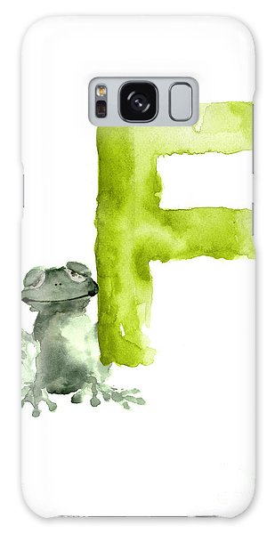Frog Watercolor Alphabet Painting Galaxy Case