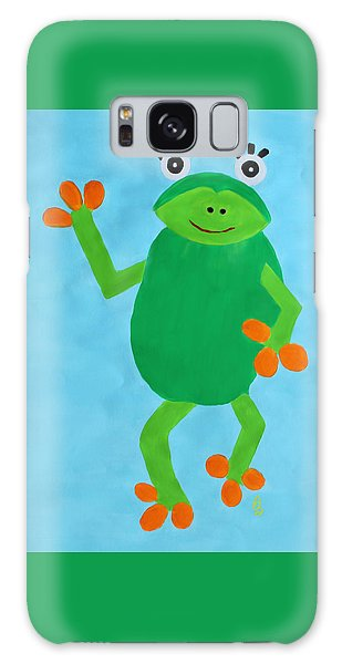 Galaxy Case featuring the painting Froggie by Deborah Boyd