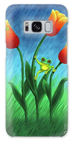 Froggy Tulips Galaxy Case