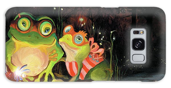 Frogs At Silver Lake Galaxy Case