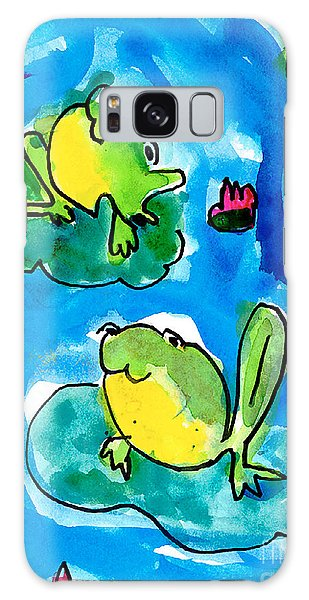Frogs Galaxy Case