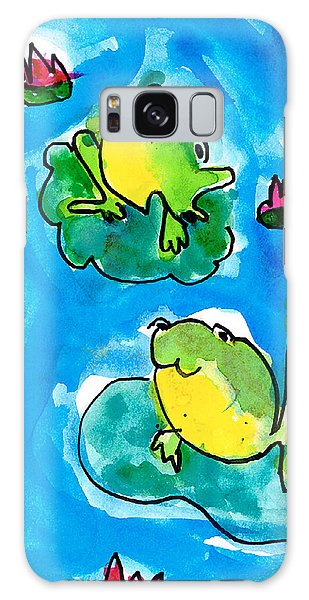 Frogs Galaxy Case