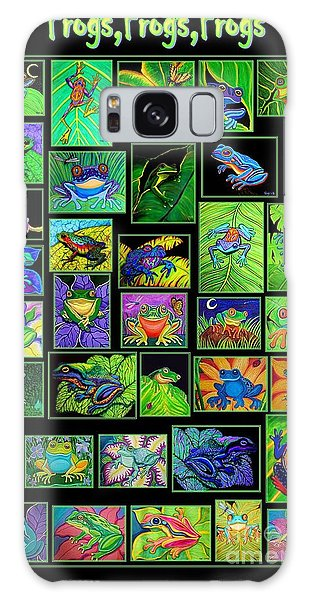 Frogs Poster Galaxy Case by Nick Gustafson