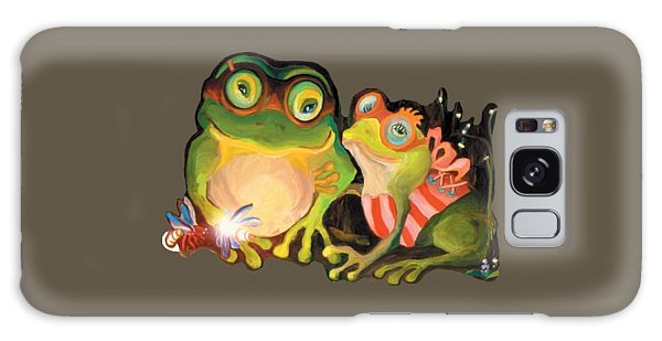 Frogs Transparent Background Galaxy Case