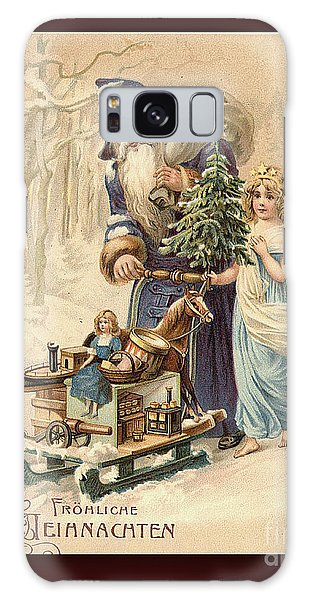 Frohe Weihnachten Vintage Greeting Galaxy Case