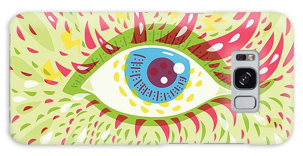 From Looking Psychedelic Eye Galaxy Case