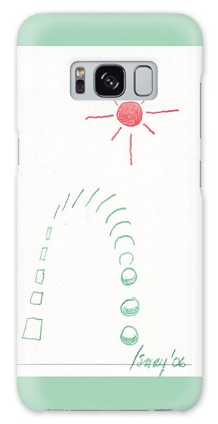 Galaxy Case featuring the drawing From Square To Sphere by Rod Ismay