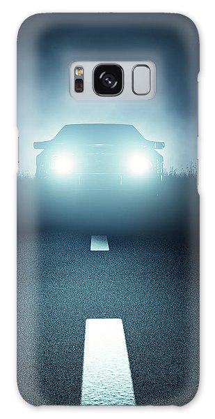 Automobile Galaxy S8 Case - Front Car Lights At Night On Open Road by Johan Swanepoel