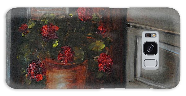 Front Porch Flowers Galaxy Case