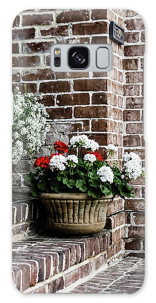 Galaxy Case featuring the photograph Front Porch With Flower Pots by Kim Hojnacki