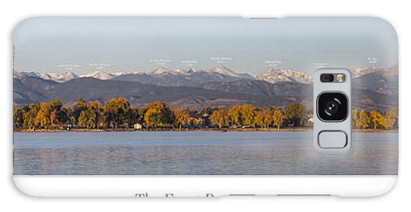 Front Range With Peak Labels Galaxy Case by Aaron Spong