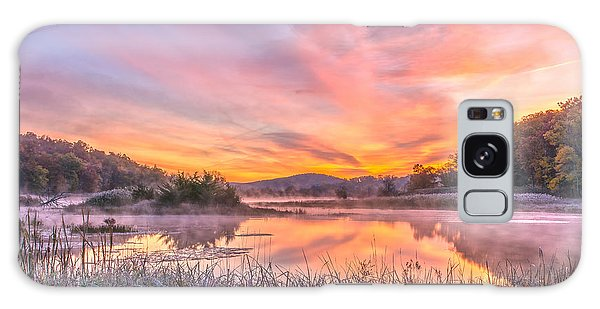 Frosted Dawn At The Wetlands Galaxy Case