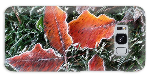 Frosted Leaves Galaxy Case by Shari Jardina