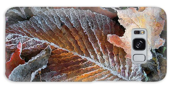 Frosted Painted Leaves Galaxy Case by Shari Jardina