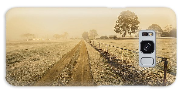 Rustic Galaxy Case - Frosted Road In Outback Australia by Jorgo Photography - Wall Art Gallery