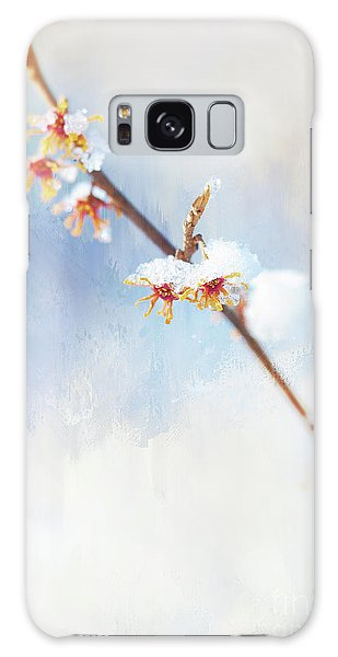 Frosted Witch Hazel Blossoms  Galaxy Case