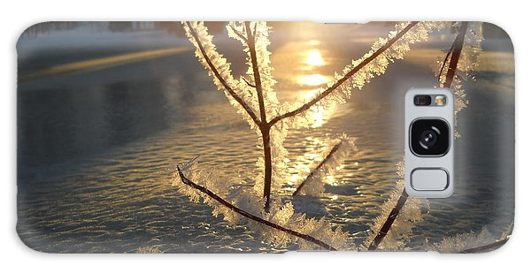 Frosty Branches At Sunrise Galaxy Case by Kent Lorentzen