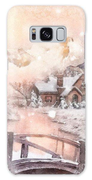 Frosty Creek Galaxy Case by Mo T