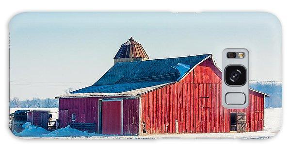 Cold Day Galaxy Case - Frosty Farm by Todd Klassy