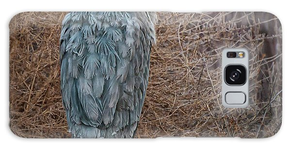 Galaxy Case featuring the photograph Frosty Heron by Britt Runyon