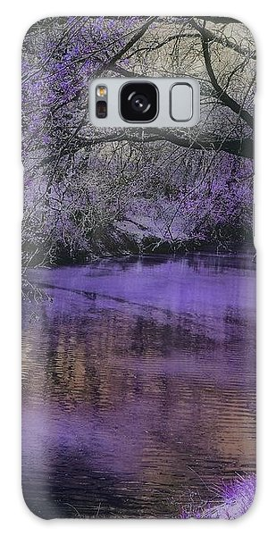 Frosty Lilac Wilderness Galaxy Case by Michele Carter