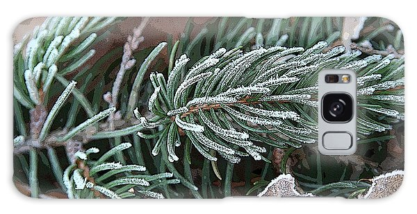 Frosty Pine Branch Galaxy Case