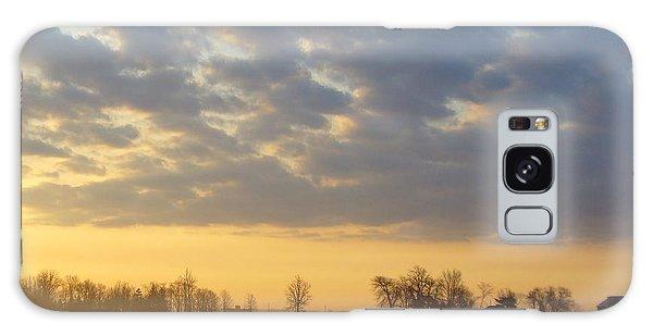 Frosty Spring Sunrise Galaxy Case