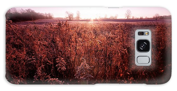 Galaxy Case featuring the photograph Frosty Sunrise by Lars Lentz