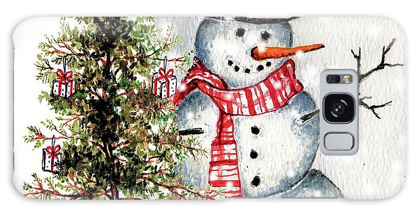 Frosty The Snowman Greeting Card Galaxy Case by Heidi Kriel