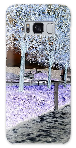 Frosty Trees At The Getty Galaxy Case
