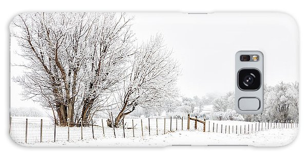 Frosty Winter Scene Galaxy Case