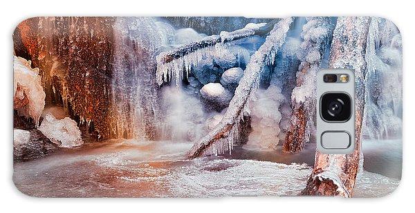 Frozen Avalon Fantasy Falls Galaxy Case by Nicolas Raymond